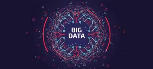 Fernstudium Big Data Management. Fractal-Element mit Linien- und Punktarray.
